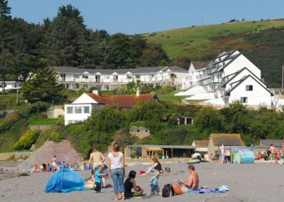 Mount Brioni is perched above the beach at Seaton