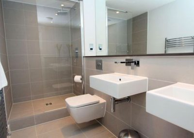 The en-suite to bedroom #1 @ 23 Ocean Gate, Newquay