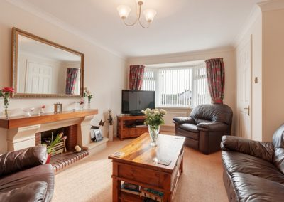 The living area @ 24 Steed Close, Paignton