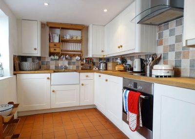 The kitchen at 24 Victoria Road, Topsham