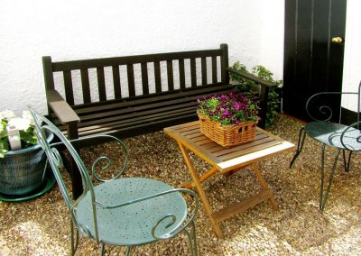 The outdoor patio at 24 Victoria Road, Topsham