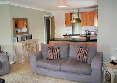 The open-plan living area @ 25 Waves, Newquay