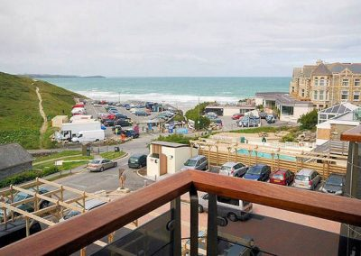 The view from the balcony @ 25 Waves, Newquay