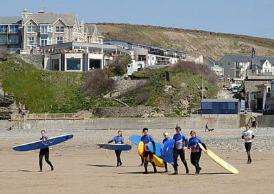 Waves has a fantastic location on Watergate Bay