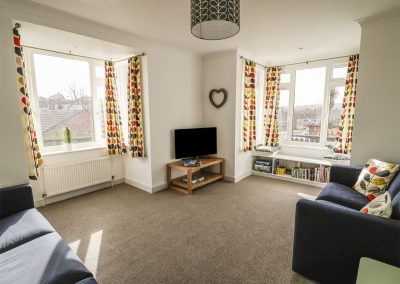 The living area at 27 Berries Avenue, Bude