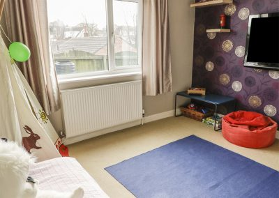 The children's play room at 27 Berries Avenue, Bude