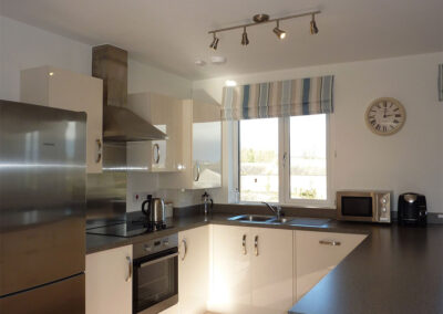The kitchen at 28 Clock Tower Court, Duporth