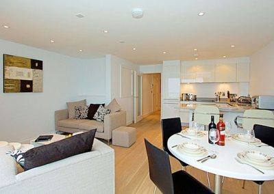 The open-plan living & dining area @ 3 Fistral Beach, Newquay