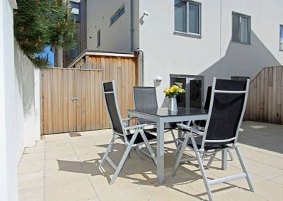 Relax on the terrace @ 3 Fistral Beach, Newquay