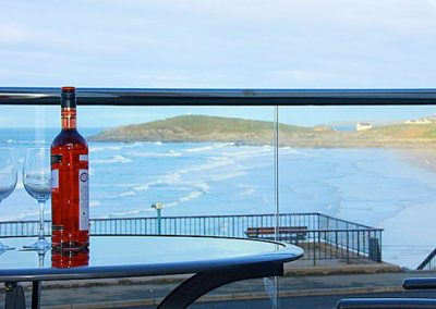 Views of Fistral Beach from the balcony @ 3 Fistral Beach, Newquay