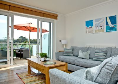The living area at 3 Goodrington Lodge, Paignton