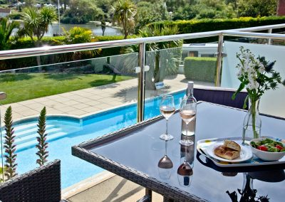 The private terrace at 3 Goodrington Lodge, Paignton
