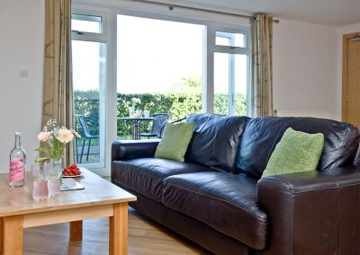 The living area at 3 Red Rock, Dawlish Warren