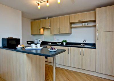 The kitchen at 3 Red Rock, Dawlish Warren