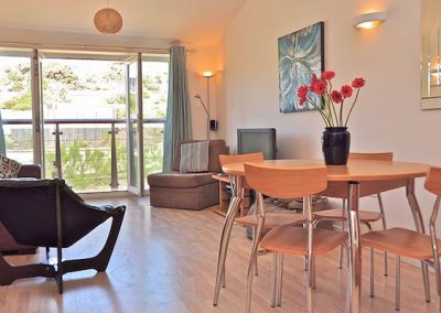 The open-plan living & dining area @ 30 Waves, Newquay