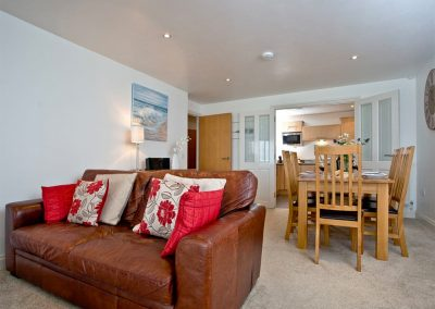 The living area at 31 Bredon Court, Newquay
