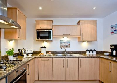 The kitchen at 31 Bredon Court, Newquay