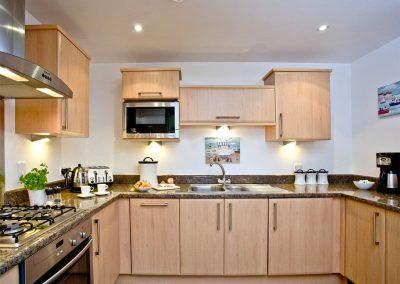 The kitchen at 31 Bredon Court, Newquay
