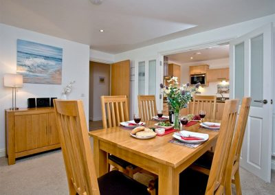 The dining area at 31 Bredon Court, Newquay