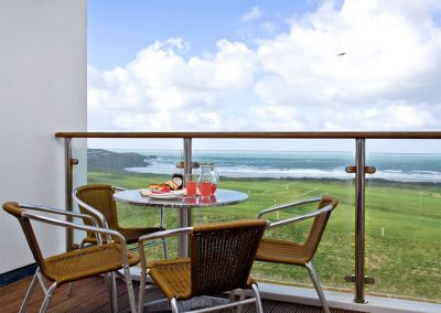 The balcony at 31 Bredon Court, Newquay