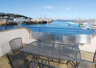 The balcony @ 39 Moorings Reach overlooking Brixham Harbour