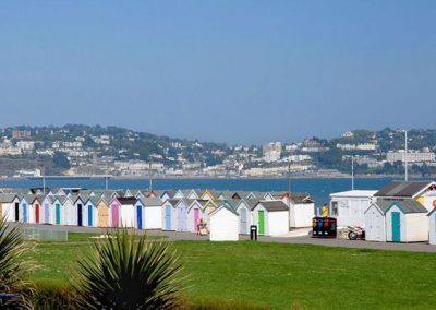 The lovely beach view from the living area @ 4 Belvedere Court, Paignton