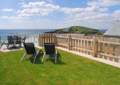 Relax in the spacious garden @ 4 Coastguards and enjoy the view