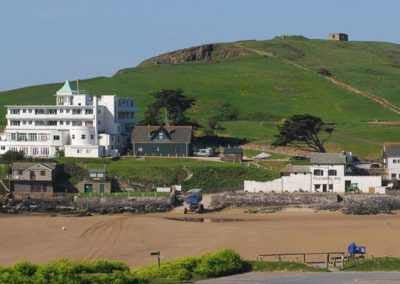 Catch the sea tractor across to Burgh Island