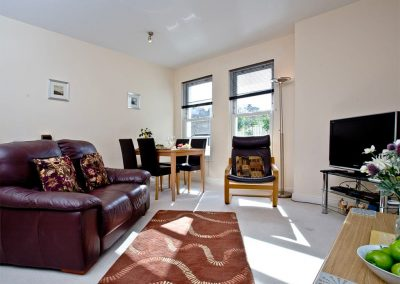 The living area at 4 Hunters Moon, Torquay