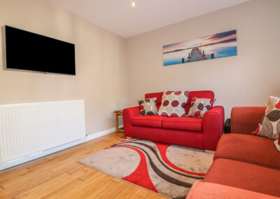 The open-plan living area at 4 Old Mill Court, Brixham