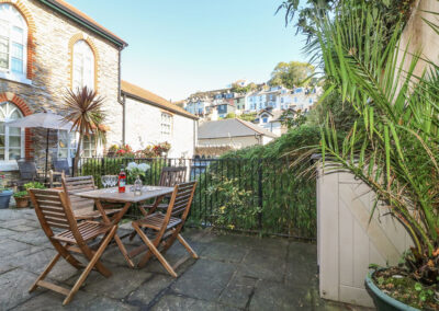 The patio at 4 Old Mill Court, Brixham