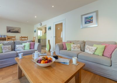 The living area at 4 Pentire Rocks, New Polzeath