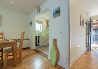The entrance leading to the open-plan dining & living area at 4 Pentire Rocks, New Polzeath