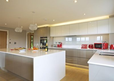 The kitchen at 4 The Drive, Hillfield Village, Bugford