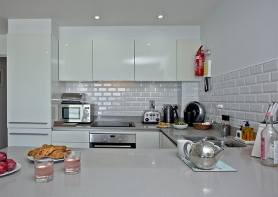 The kitchen at 5 Fistral Beach, Newquay
