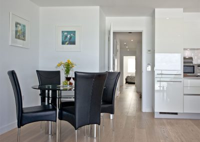 The dining area at 5 Fistral Beach, Newquay