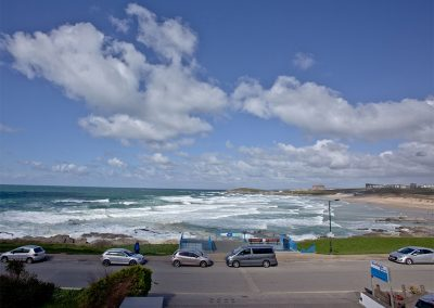 The view from 5 Fistral Beach, Newquay