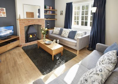 The living area at 5 Hillside, Axmouth