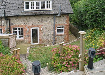 The garden at 5 Hillside, Axmouth