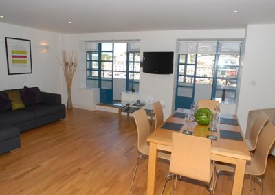 The open plan living & dining area @ 5 Queens Quay, Torquay
