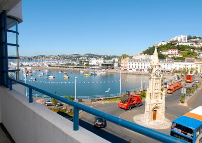 Views across the harbours from the balcony @ 5 Queens Quay, Torquay