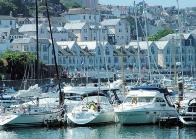 Outside Brixham Marina