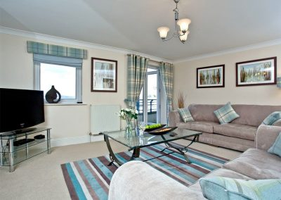 The living area at 54 Moorings Reach, Brixham