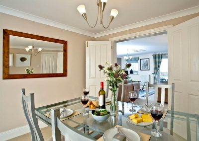 The dining area at 54 Moorings Reach, Brixham