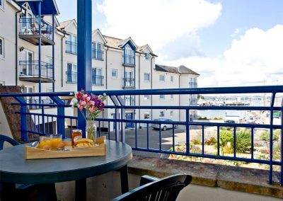 The balcony at 54 Moorings Reach, Brixham