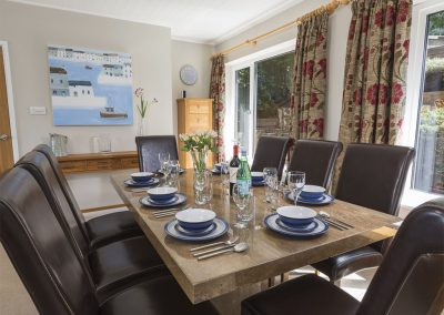 The dining area at 56 Crowthers Hill, Dartmouth