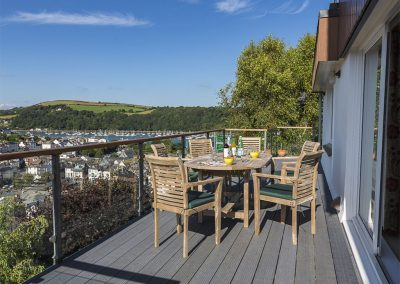 The decked terrace at 56 Crowthers Hill, Dartmouth