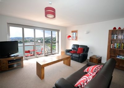 The living area at 6 Astor House, Torquay