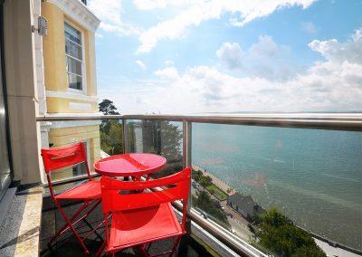 The balcony at 6 Astor House, Torquay