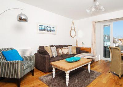 The living area @ 6 At the Beach, Kingsbridge